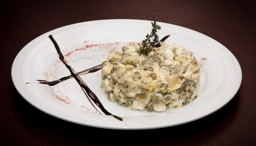 Рецепт «Оливье» без колбасы