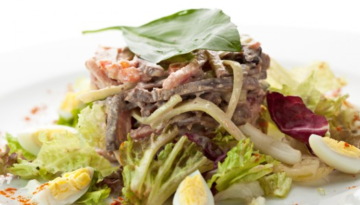 Рецепт языка тушеного с овощами