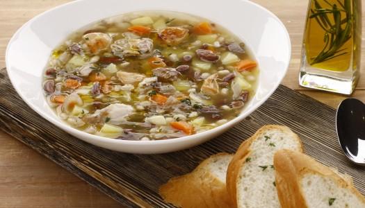 Суп из бобовых с кроликом