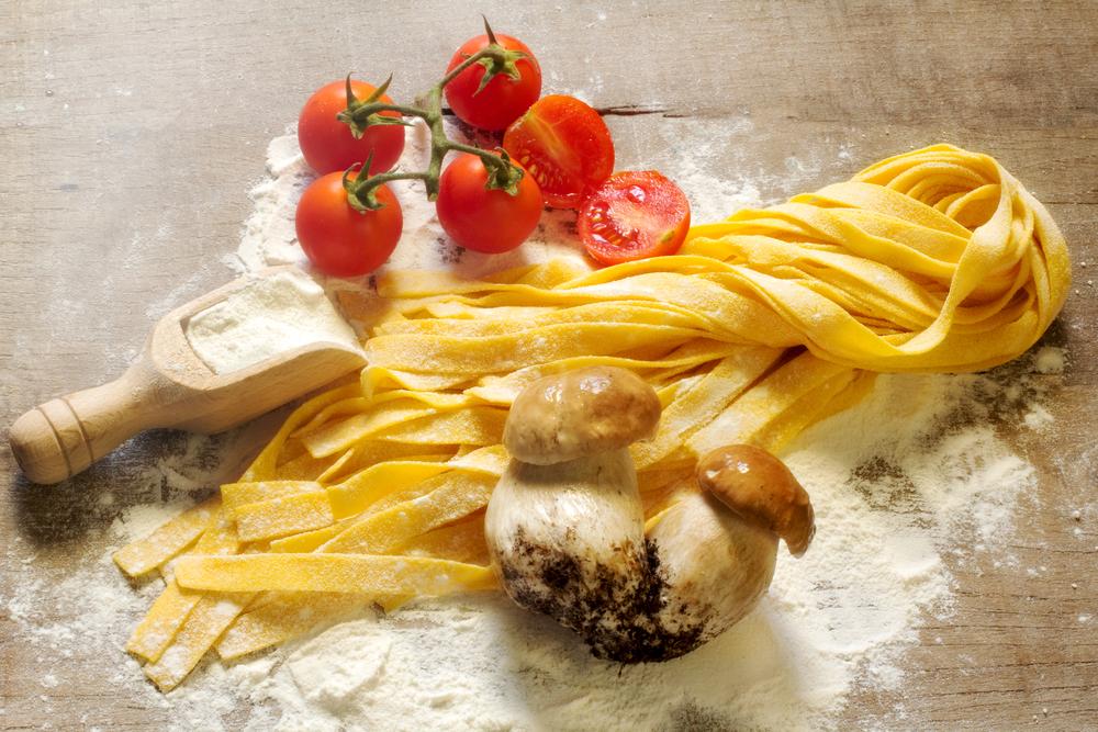 Паста с белыми грибами