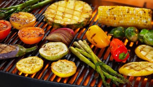 Приготовление овощей на гриле