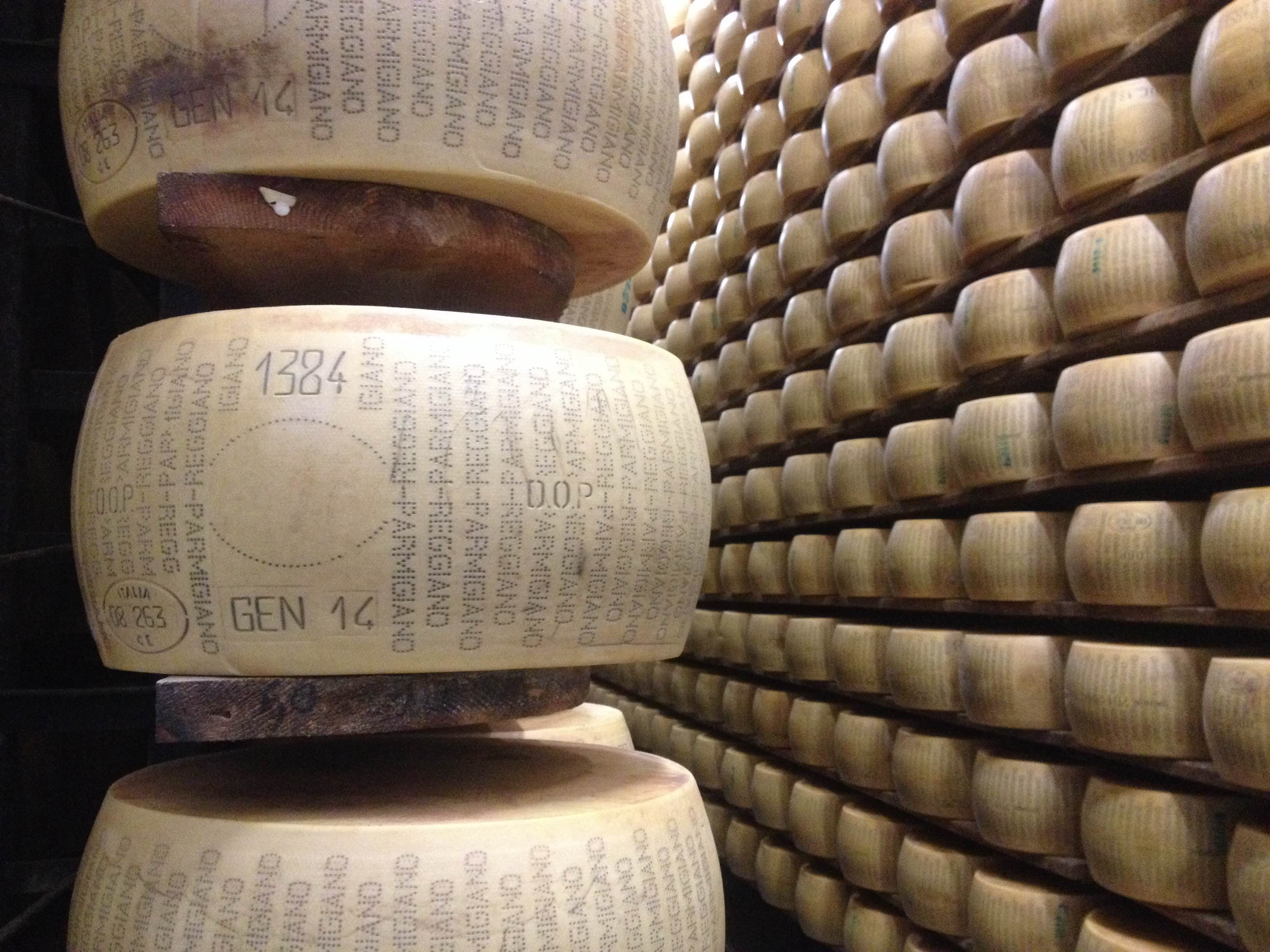 Unapproved_Parmigiano-Reggiano_wheel_on_shelf