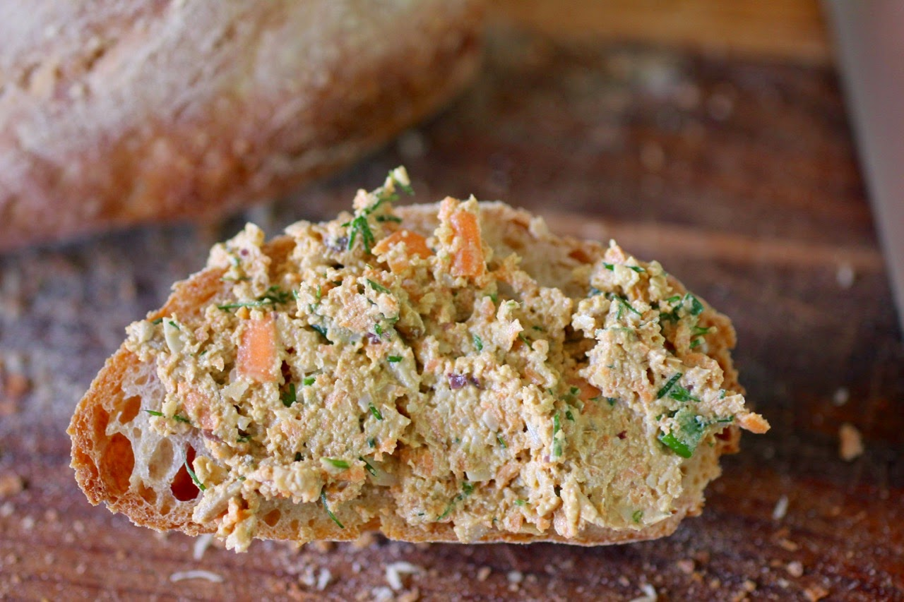 vegan salmon pate