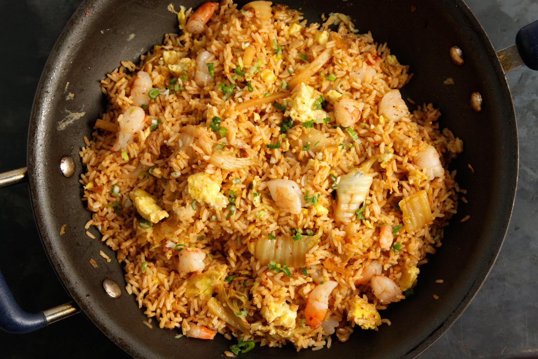 креветки и рис