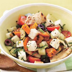 цукини и сыр салат