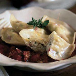 рецепт равиолли с крабовым мясом