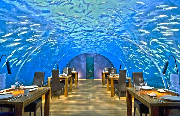 рыбный ресторан на мальдивах