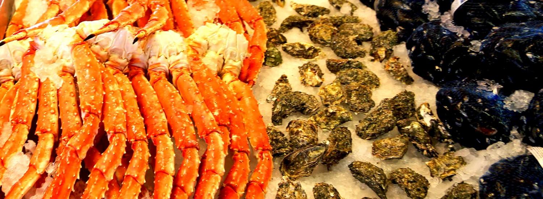 рыбный рынок морские лакомства