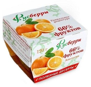 русберри десерт с апельсином